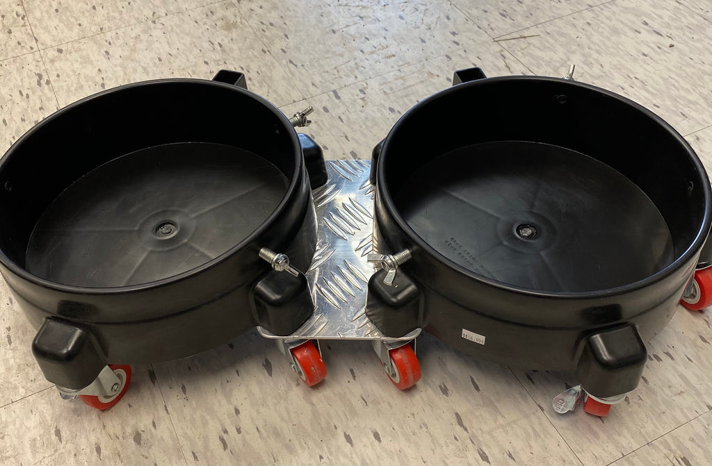 SGCB BUCKET DOLLY SET OF 2 WITH CONNECTING PLATE