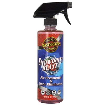 Masterson's Car Care Strawberry Blast Air Freshener & Odor Eliminator (16 oz)