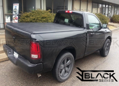 B-Series Soft Tri-Fold Tonneau Cover for Dodge Ram 5.7ft (2009-2019). Available online only.