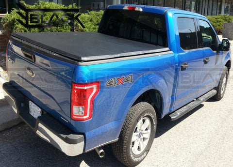B- Series Soft Tri-Fold Tonneau Cover for Ford F150/F250/F350 8ft (2004-2021). Available online only