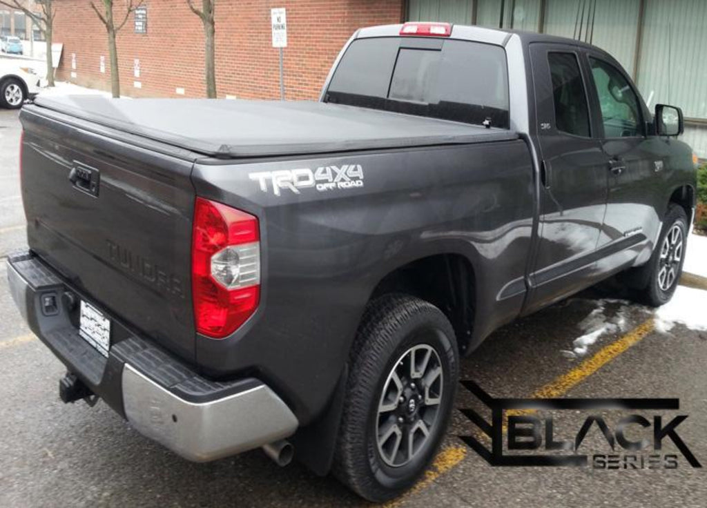 Black Series Soft Tri Fold Cover For Toyota Tundra 6 5ft 2014 2020