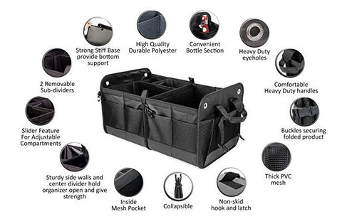 Cargotek Heavy Duty Material Collapsible Trunk Organizer