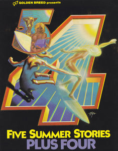 5 Summer Stories - Plus Four. Sticker. 1976.