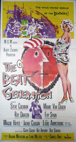 The Beat Generation. Three Sheet Poster. 1959.