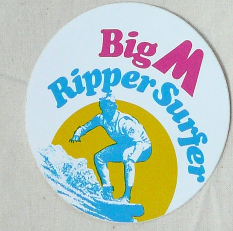 Big M Sticker. c1979