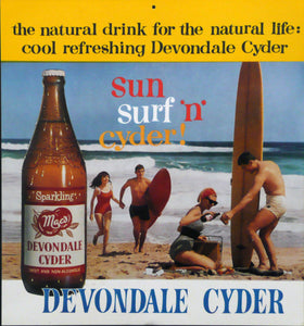 Devondale Cider. Original shop counter promo card. c 1965.