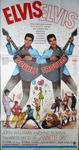 Double Trouble. 1967. Original Three Sheet Poster.