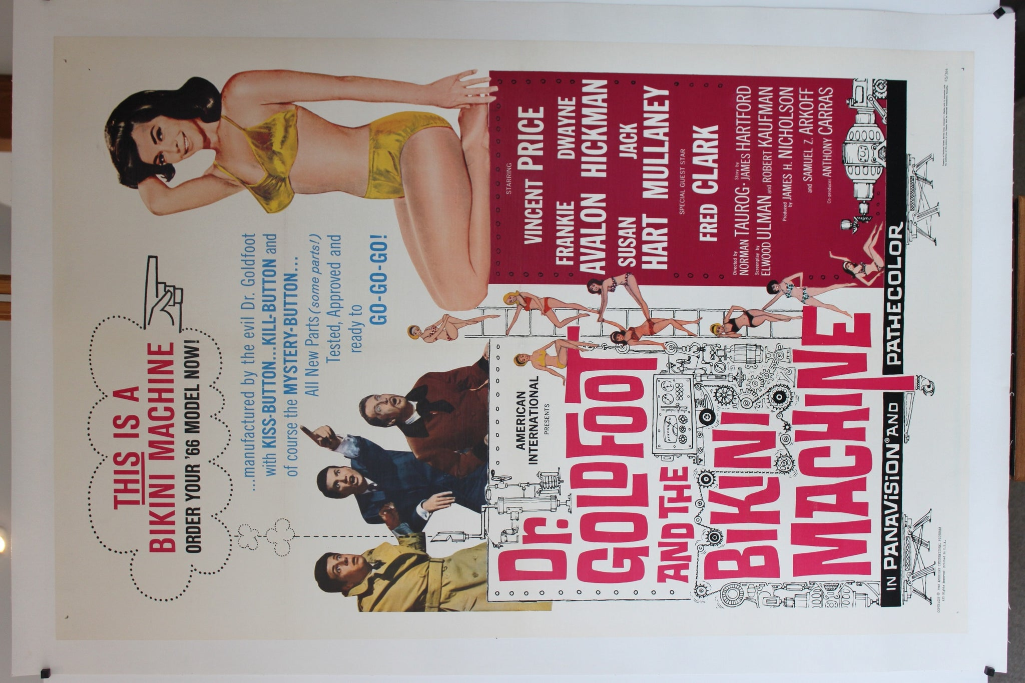 Dr Goldfoot and the Bikini Machine. Original linen-backed one sheet poster.