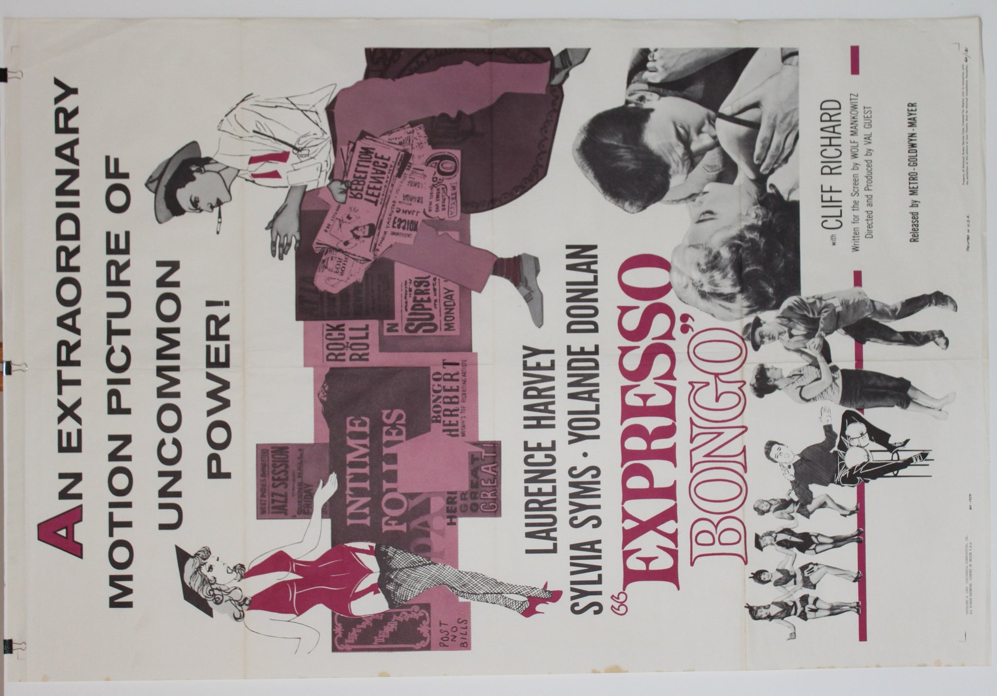Expresso Bongo. Original US one sheet. 1959