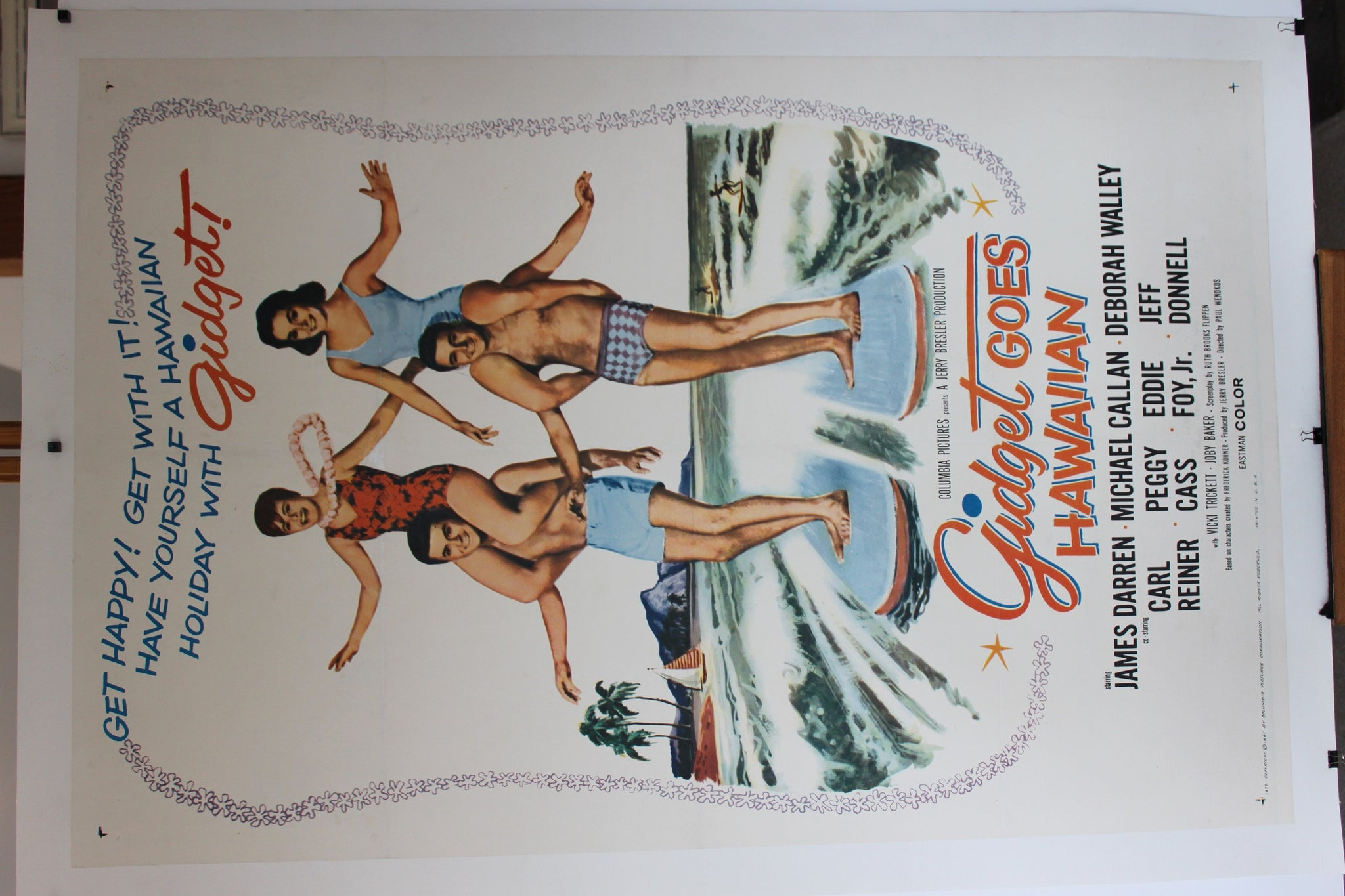 Gidget Goes Hawaiian. Original US One sheet. 1961