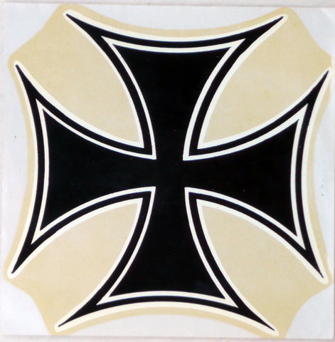 Maltese Cross sticker. c1964.