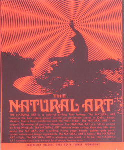 The Natural Art sticker.1970.