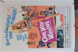 One Way Wahine. Original Linen backed poster. 1965