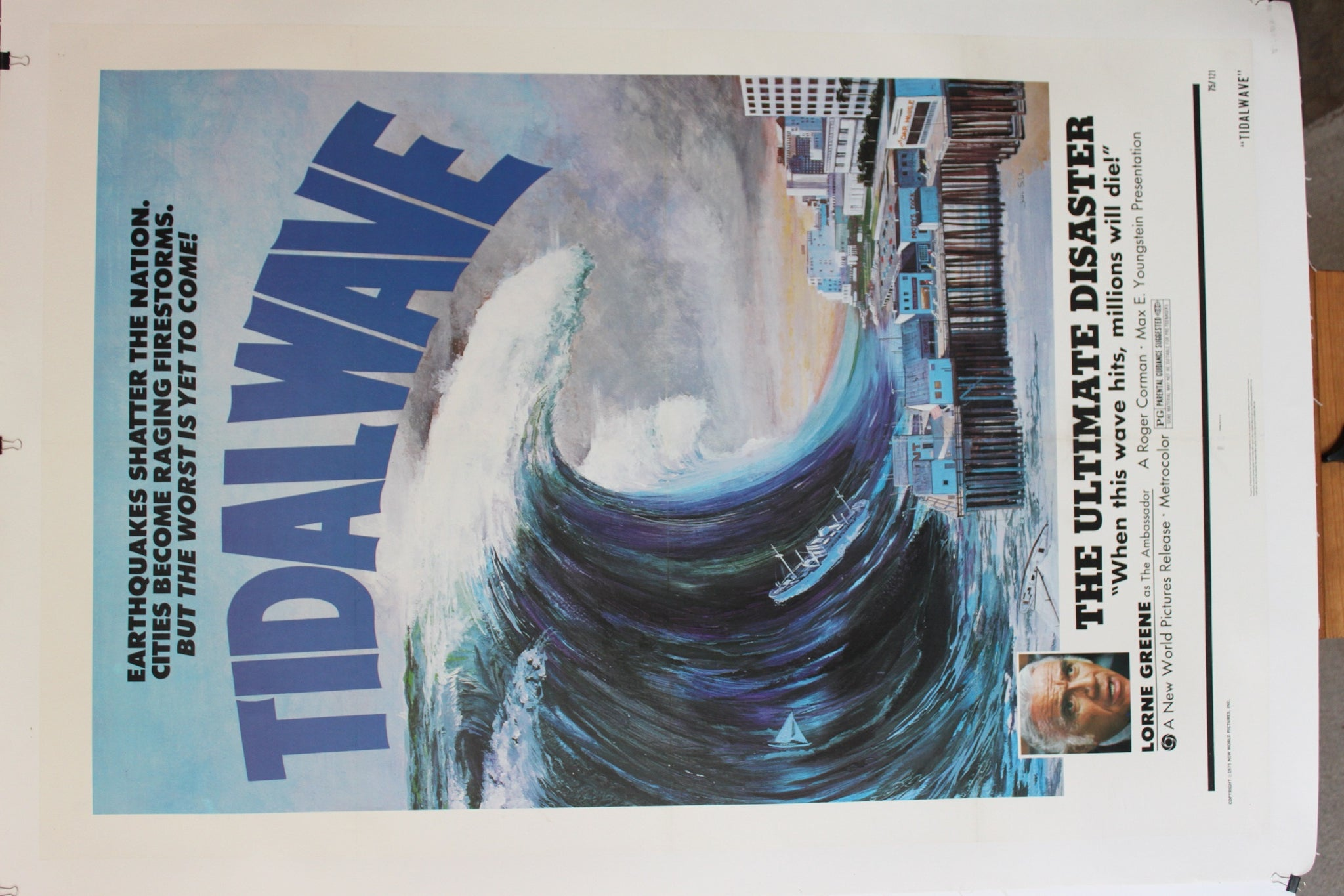 Tidal Wave. Original US Linen-backed One Sheet. 1975.