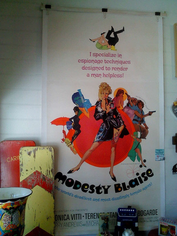 Modesty Blaise. Three Sheet Poster.
