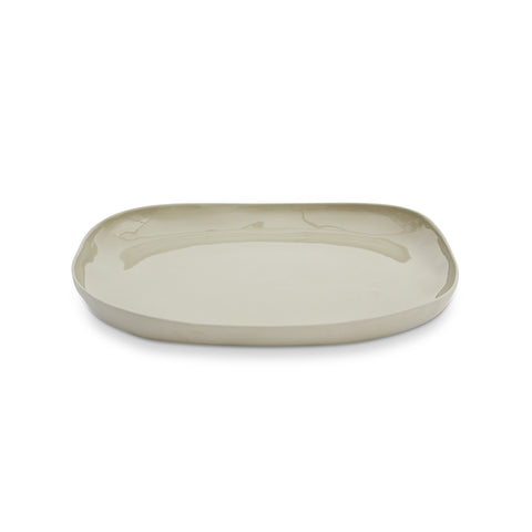 Cloud Square Plate Dove Grey (L)
