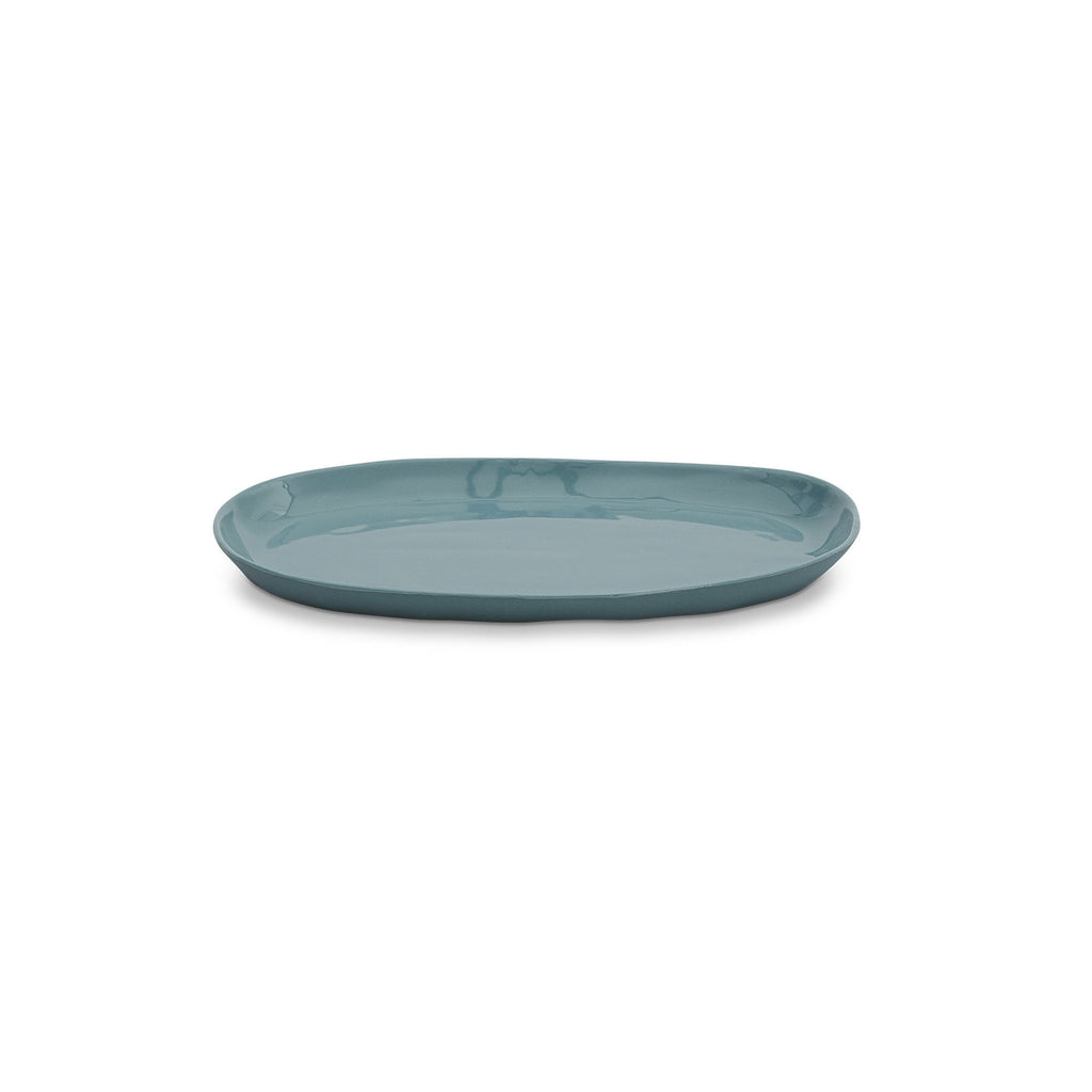 Cloud Oval Plate Steel Blue (M)