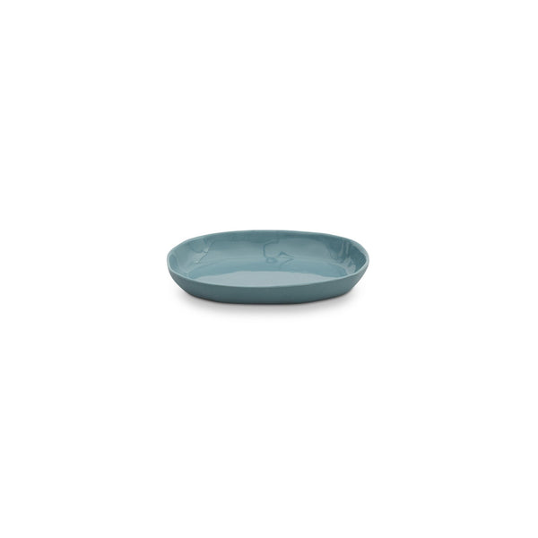 Cloud Oval Plate Steel Blue (S)