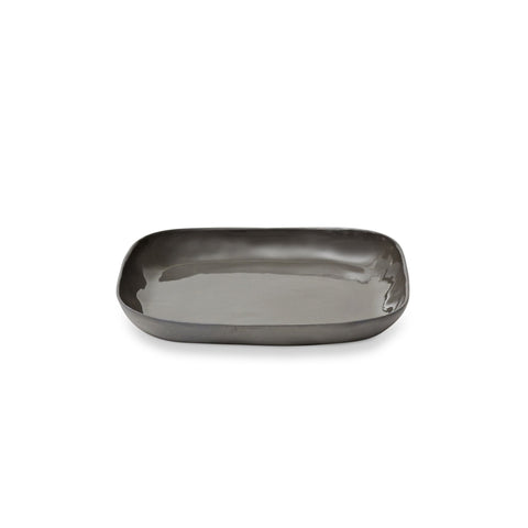 Cloud Square Plate Charcoal (M)