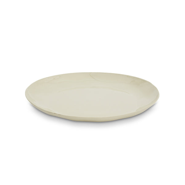 Cloud Round Plate Chalk (L)