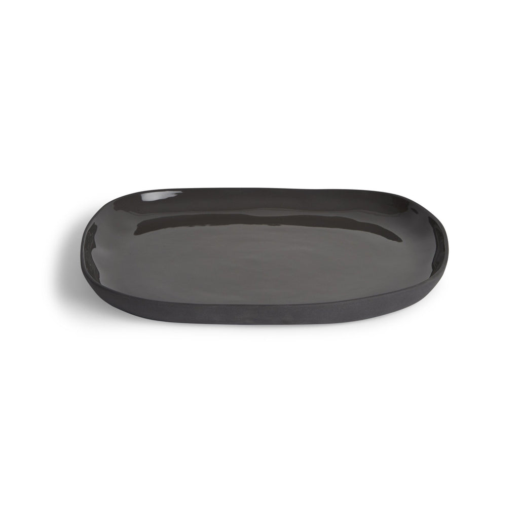 Cloud Square Plate Charcoal (L)