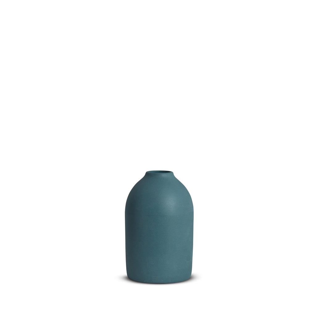 Cocoon Vase, Steel Blue, Small