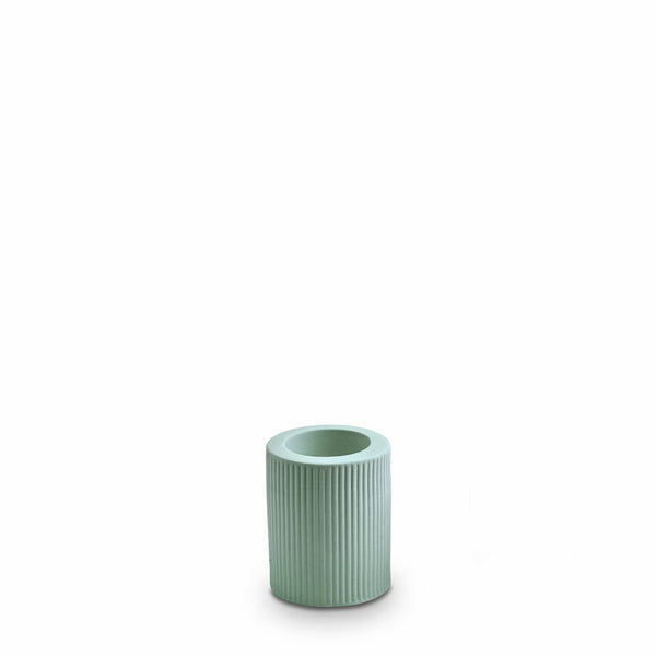 Ribbed Infinity Candle Holder Blue (M)