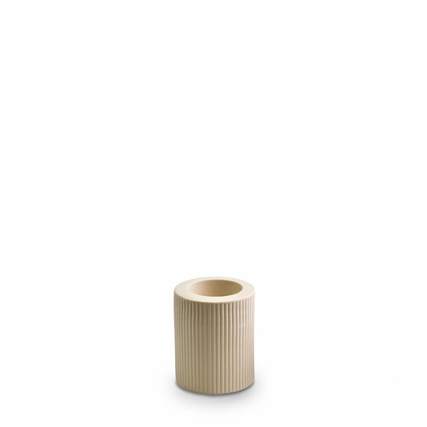 Ribbed Infinity Candle Holder Cream (M)