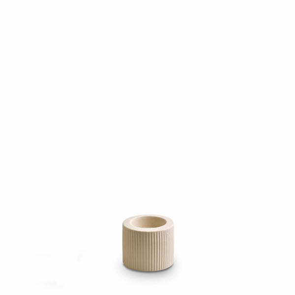 Ribbed Infinity Candle Holder Cream (S)