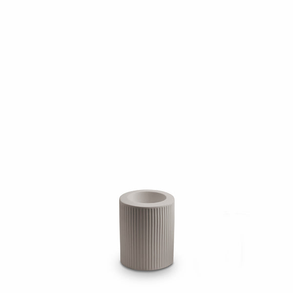 Ribbed Infinity Candle Holder Light Grey (M)