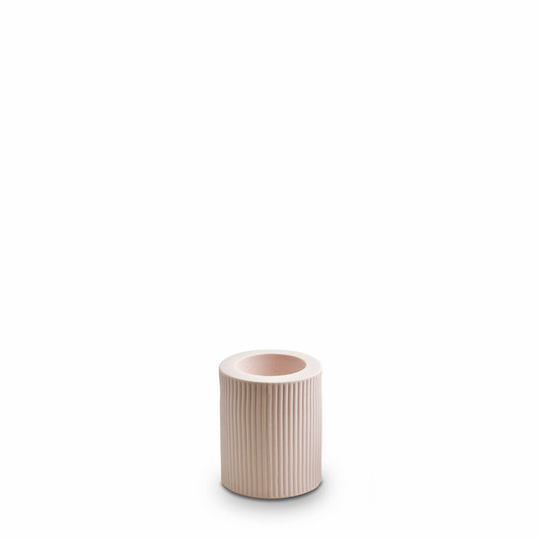 Ribbed Infinity Candle Holder Nude (M)