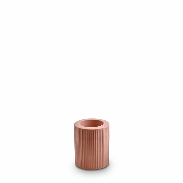 Ribbed Infinity Candle Holder Ochre (M)