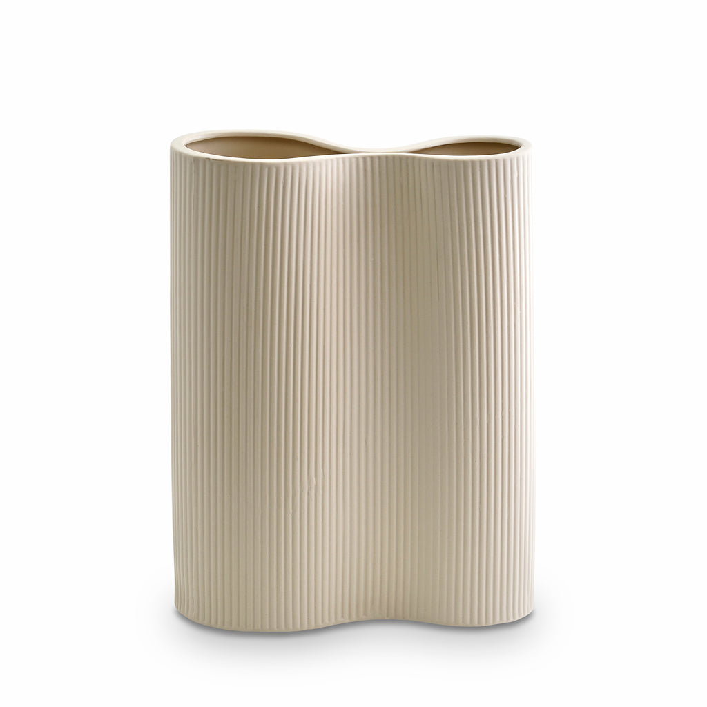 Ribbed Infinity Vase Cream (M)