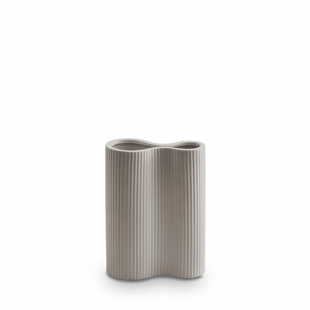 Ribbed Infinity Vase Light Grey (S)