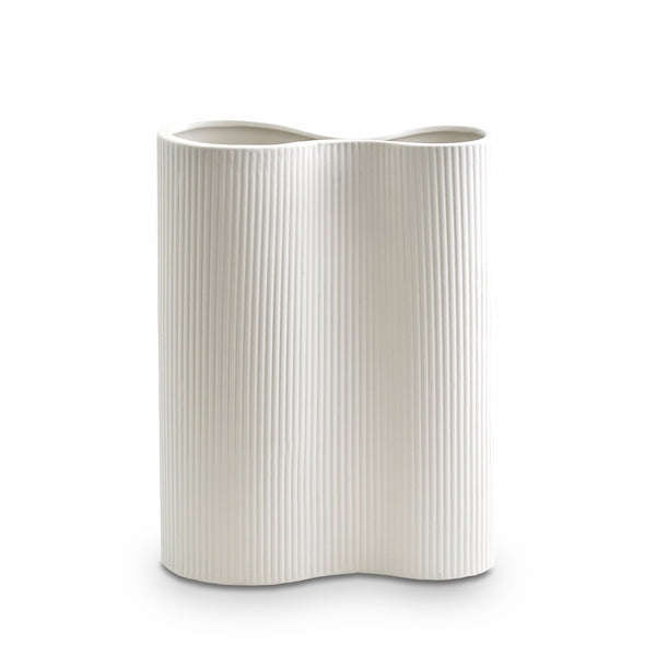 Ribbed Infinity Vase Snow (M)