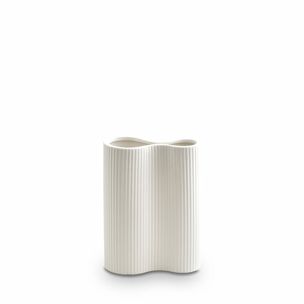 Ribbed Infinity Vase Snow (S)