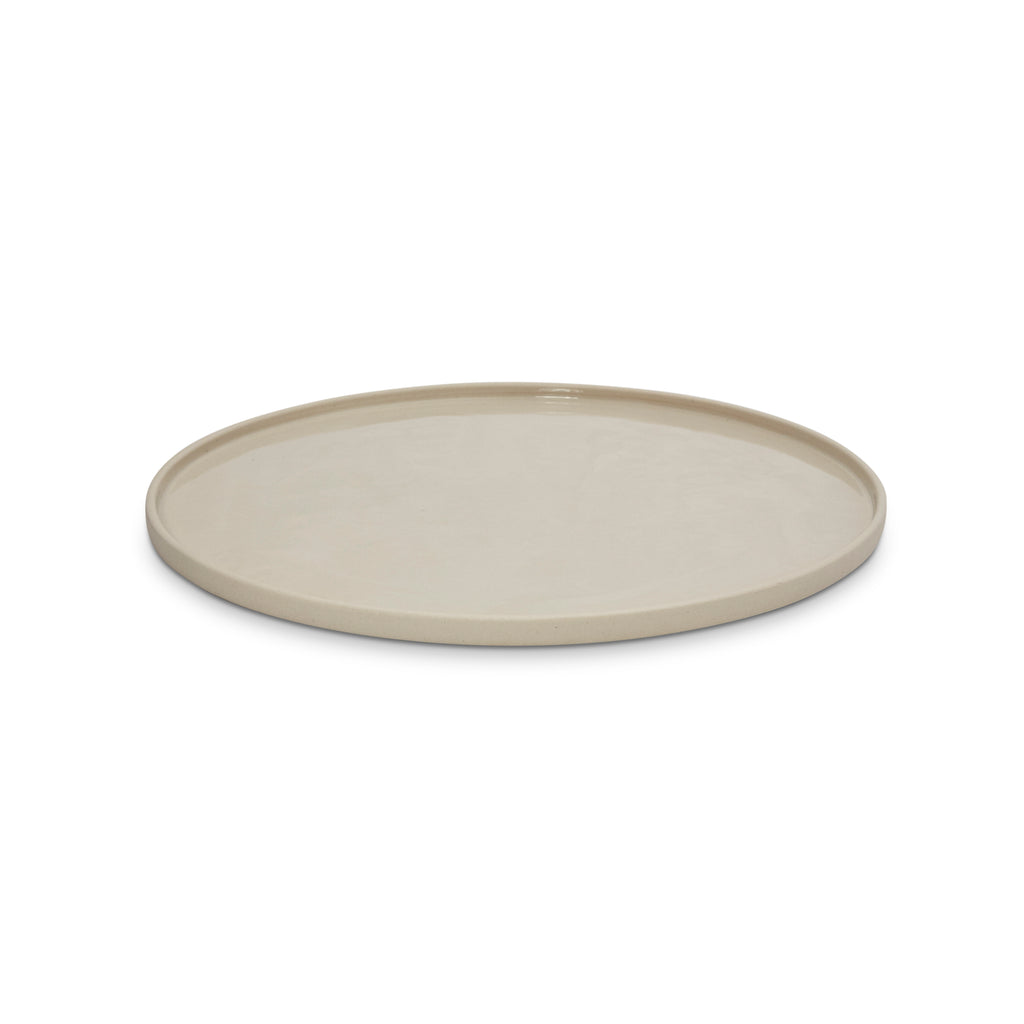 Cloud Round Platter Chalk White L