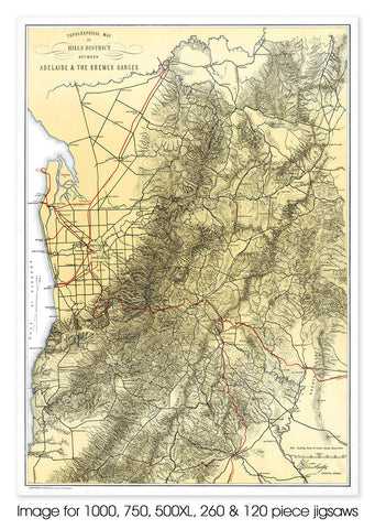 Adelaide Hills (topographical) - 1898