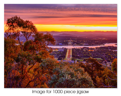 Anzac Parade sunset, Canberra ACT