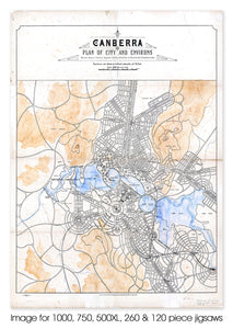 Canberra plan of city of environs, 1928 - 1929