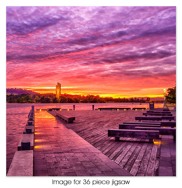 Kingston foreshore sunrise, Canberra ACT