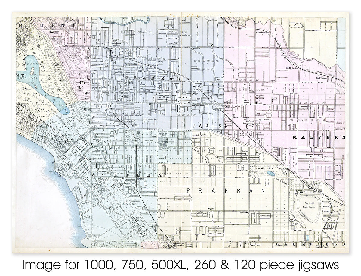 Plan of Melbourne & Suburbs - 1888