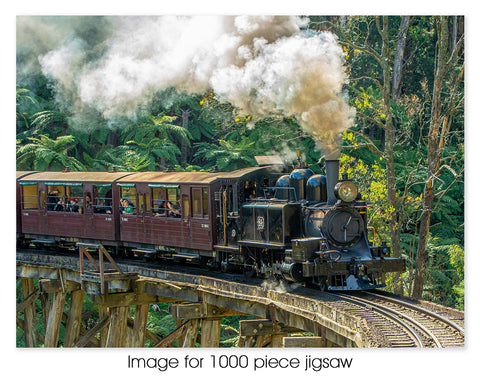 Puffing Billy on Trestle Bridge