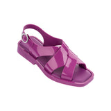 Melissa Women's purple jelly sandals with cross strap