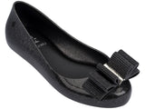 Melissa Kid's black jelly flats with bow