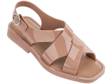 Melissa Women's beige jelly sandals with cross strap