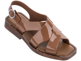 Melissa Women's brown jelly sandals with cross strap