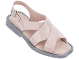 Melissa Women's pink jelly sandals with cross strap