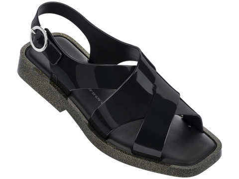 Melissa Women's black jelly sandals with cross strap