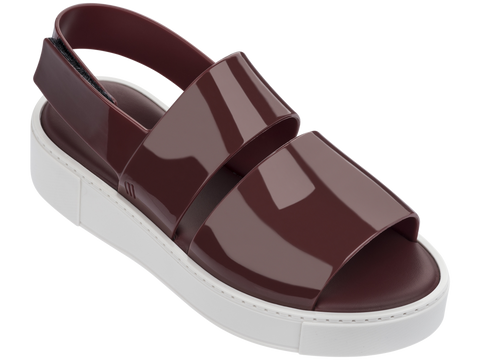 Melissa Women's brown jelly sandals with double strap